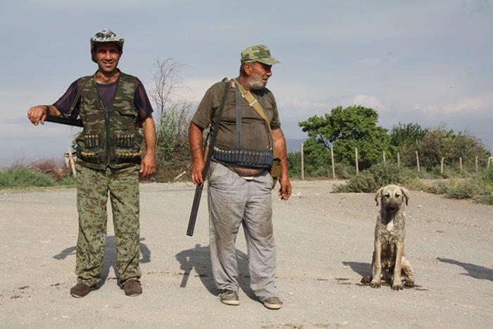 Tiere Jäger und Männer Tiersein